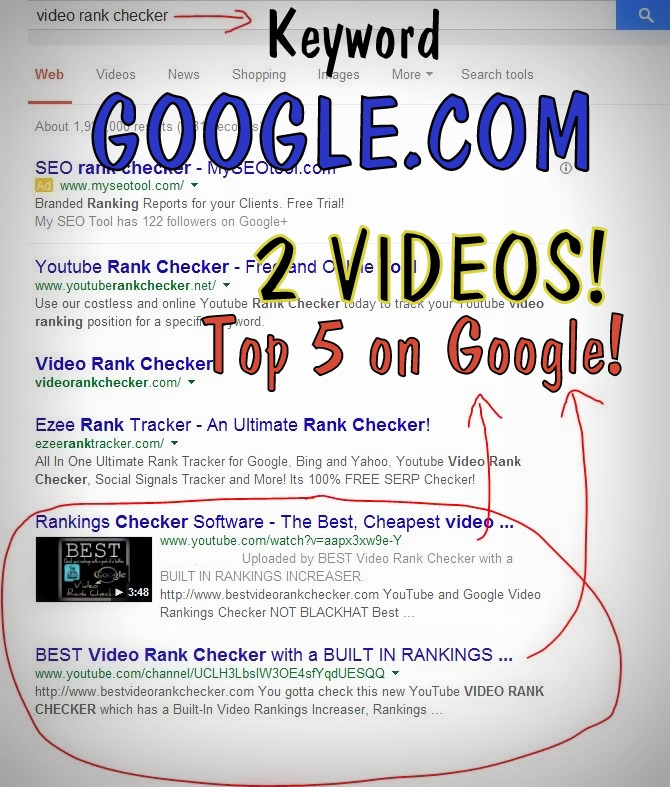 Google Ranking Proof - Click to verify
